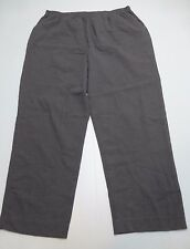 Blair Womens Size 20P Gray Raised Weave Casual Pants New