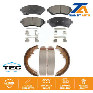 Front Rear Ceramic Brake Pad And Drum Shoes Kit 1997-1999 Cadillac DeVille