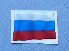 0027) 3D Embleme Auto Sticker 72/50mm Silikon Aufkleber Fahne Flagge russland RU