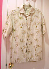 Tommy Bahama Camp Shirt Copyrighted Print T32054 Size M 100% Tencel Lyocell