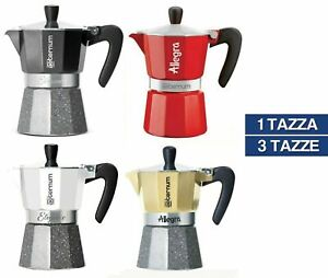 CAFFETTIERA MOKA BIALETTI ESPRESSO AETERNUM ELEGANCE ALLEGRA 1 3 TAZZE (51448V)