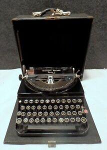 VINTAGE 1934 Remington Model 5 Manual Portable Typewriter WITH CASE