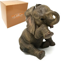Out of Africa African Cute Baby Elephant Crying Resin Ornament Missing You Gift