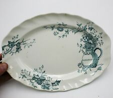 "Antique Doulton Burslem Woodstock Platter Plate 11.5"" Wide Rare 1880's  :T127"