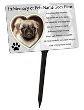 Pet Photo Personalised Memorial Plaque & Stake. Heart, dog, cat, garden grave