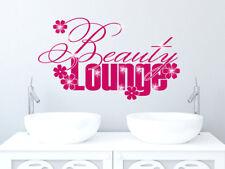 Tatuaggio Parete Adesivo con Swarovski per Bagno Scritta Beauty Lounge