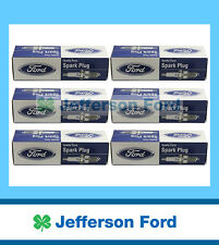 GENUINE FORD 6 CYL BA FALCON & SX TERRITORY PETROL IRIDIUM SPARK PLUG SET OF 6