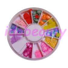 FIMO STAR FLOWER MIX NAIL ART DECO DESIGN CRAFT SLICE FOR NAILS 6CM WHEEL H