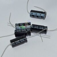 5pc 450V 10uf 105C New long copper leads Axial Electrolytic Capacitors tube amps