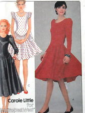 Vtg 80s dress pattern sz 8 B31 Carole Little for KNITS