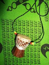 African D'jembe Drum Necklace new handmade Africa drummer music M/L jndl79