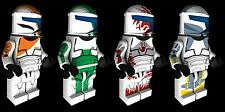 Lego Star Wars Clone Commando Delta Squad Custom Water Slide Decals x4 - New