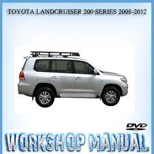 TOYOTA LANDCRUISER 200 SERIES 2008-2012 FACTORY WORKSHOP REPAIR MANUAL IN DISC