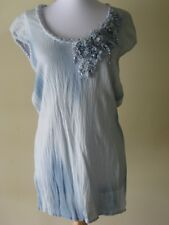 Women Blouse By Philippe Carat Size XL in Blue Color
