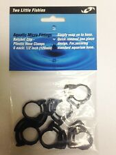 "Two Little Fishies 1/2"" Plastic Hose Clamp Set of 6"