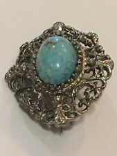 Turquoise Style Brooch