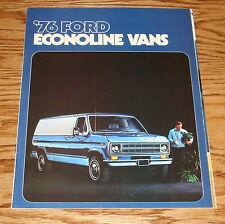 Original 1976 Ford Econoline Vans Sales Brochure 76