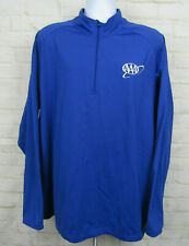 American Automobile Association Aaa Quarter Zip Sweatshirt Jacket Blue Logo 4Xl