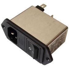 Schaffner FN282-10-06 Netzfilter 250V AC 10A IEC Inlet-Filter Fuse Switch 855205