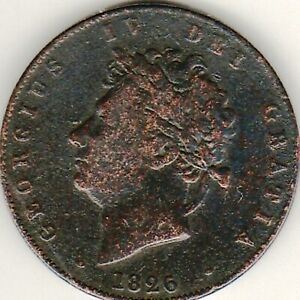 1826 George IV HALFPENNY from GREAT BRITAIN