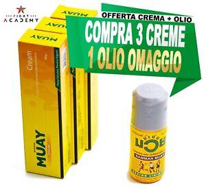 Crema Namman Muay analgesica 3+1 OLIO GRATIS, pre/post esercizio, boxe,muay thai