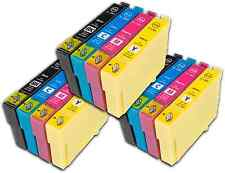 12 T1285 no-OEM Cartuchos de tinta para Epson T1281-4 Stylus SX430W SX435W SX438W