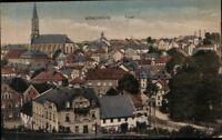 Alte AK PK Postkarte ungelaufen Foto Münchberg Total Stadt Kirche Siedlung