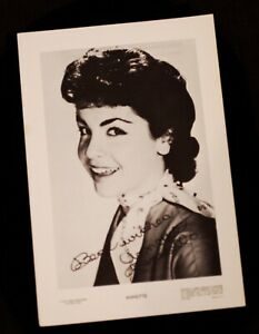 1958 1960 Annette Funicello Fan Card Walt Disney Mickey Mouse Club Mouseketeer