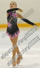 Ice skating dress.Black Competition Figure Skating dress /Baton Twirling Costume
