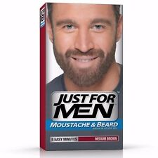 ツ BEST BRICE! JUST FOR MEN MOUSTACHE & BEARD MEDIUM BROWN DISCOUNT CHEMIST