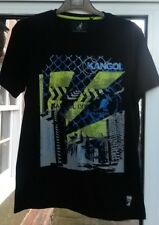 Homme Kangol T Shirt Original BLACK LABEL Taille S Bnwt