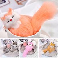 Cute Fluffy Faux Fur Fox Keyrings Pompom Ball Charm Bag Pendant Key Chains Gift