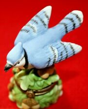 Porcelain Hinged Box Midwest Cannon Falls - Songbird Series Blue Jay Limited