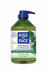 Kiss My Face Anti stress Bath Shower Gel Moisturizing Body Wash Value Size 32 oz