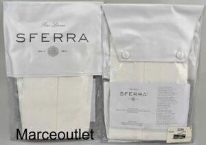 Sferra Celeste 3990 Long Staple Cotton Percale KING Pillowshams White