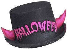 noir Halloween cylindre avec rose DIABLE NEUF - Carnaval chapeau