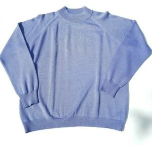 Vintage WEAVZ KNITWEAR Pure Wool Jumper Womens Size 12  Cornflower Blue 1970s