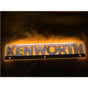 2 Piece Kenworth LED Side Bonnet Badge Back Light - Amber (Light Only - Pair)
