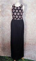 BNWT Ted Baker Black Embellished Zephira Evening Maxi Dress Size 3 - 12 RRP £999