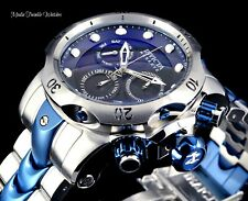 Invicta RESERVE Venom Swiss Chronograph Black MOP Silver & Blue Bracelet Watch!