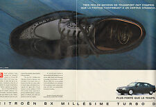 Publicité Advertising 1991 ( Double page )  CITROEN BX  MILLESIME TURBO D