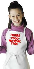 Child Cooking Apron Future Food Network Star Kids Kitchen Aprons by CoolAprons
