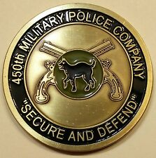 450th Military Police Co. MP Enduring Freedom 04-05 Army Challenge Coin