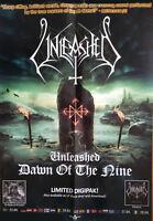 UNLEASHED - Dawn Of The Nine - Promo Poster - gefaltet / folded - Sammlerstück