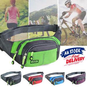 Bum Waist Bag Handy Belt Climbing Hiking Sport Unisex Fanny Pack Zip Pouch Large