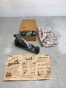 Vintage Stanley No 3 smoothing carpenter plane woodworking tool original box