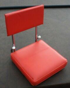 Vintage Red Vinyl Folding Stadium Bleacher Seat Boat Chair W/Clamp KR Industries