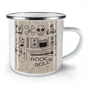 Rock & Roll Skull Music NEW Enamel Tea Mug 10 oz | Wellcoda