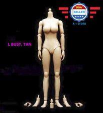 1/6 Scale Female Nude Figure Body Doll Large Bust Tan Skin Tone