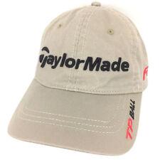 371c641ec1e TaylorMade Golf Hat R9 Burner Cap TP Ball Logo Baseball Trucker Strap Back  Beige
